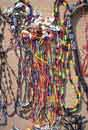 Hand-crafted<BR>bead necklaces<BR>- San Blas Indians