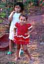 Jennifer & Beatriz<BR>Castillo strike<BR>a pose (they are<BR>now my kids)